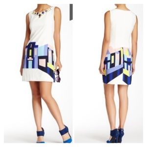Vince Camuto Embellished Neck Shift Dress Size 12